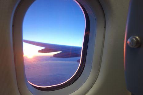 Alitaliaの車窓?飛窓?から!!